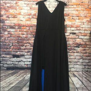 Black and blue flowly Beige by eci dressy dress